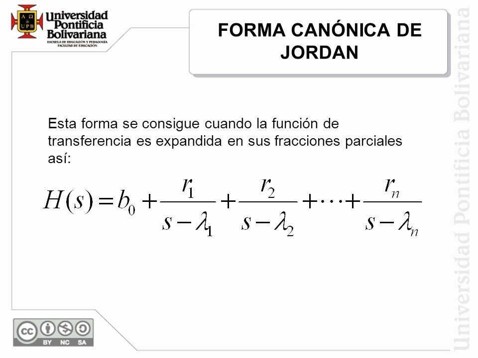 FORMA CANÓNICA DE JORDAN