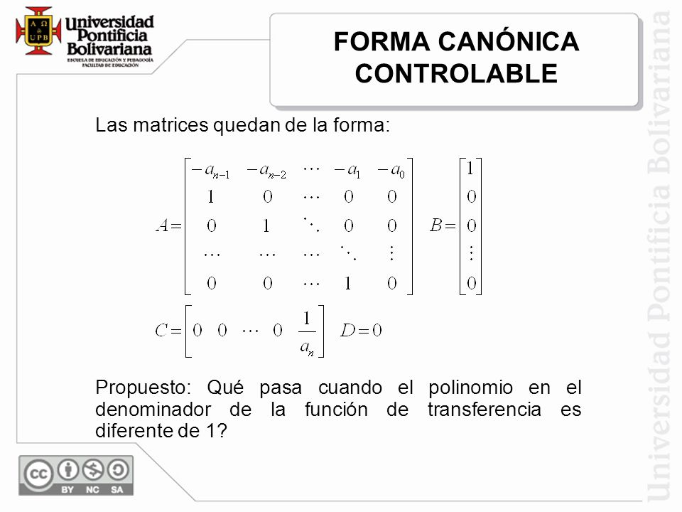 FORMA CANÓNICA CONTROLABLE