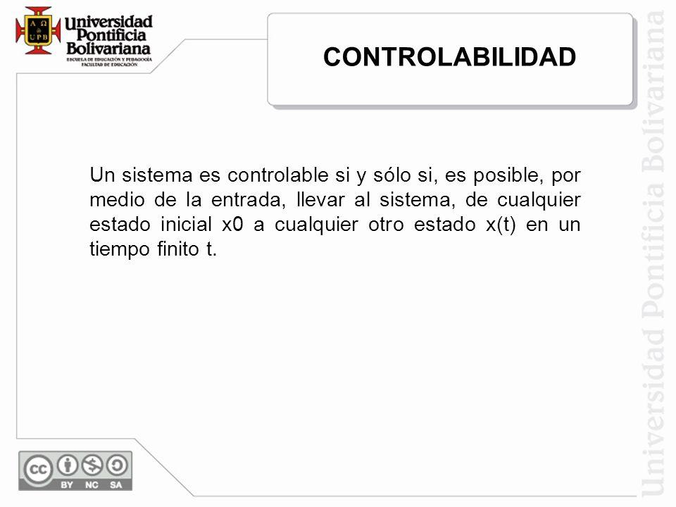 CONTROLABILIDAD