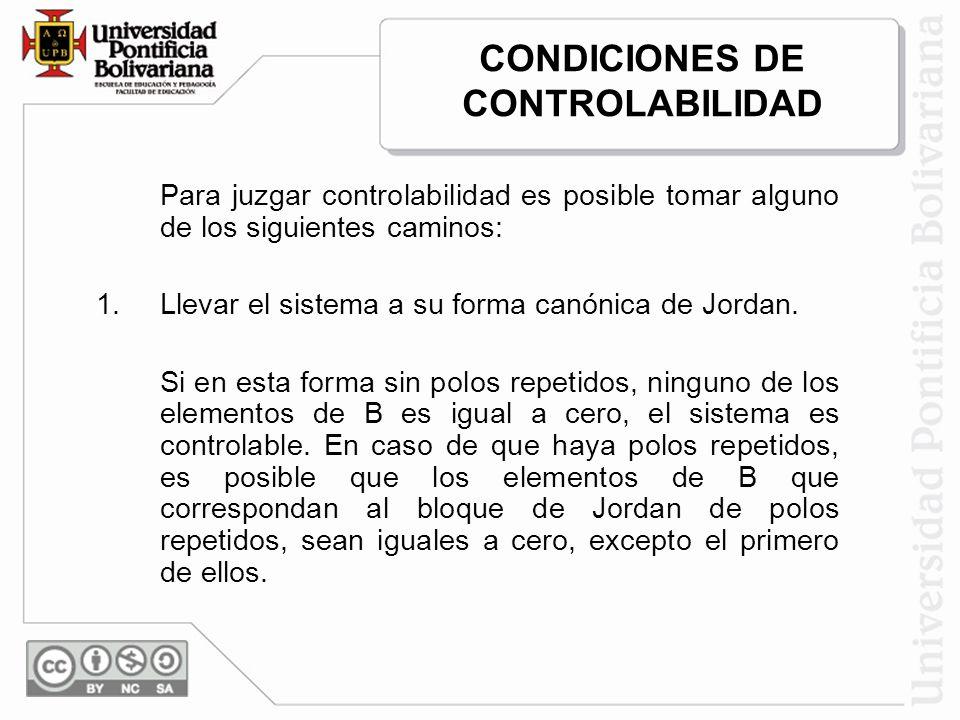 CONDICIONES DE CONTROLABILIDAD