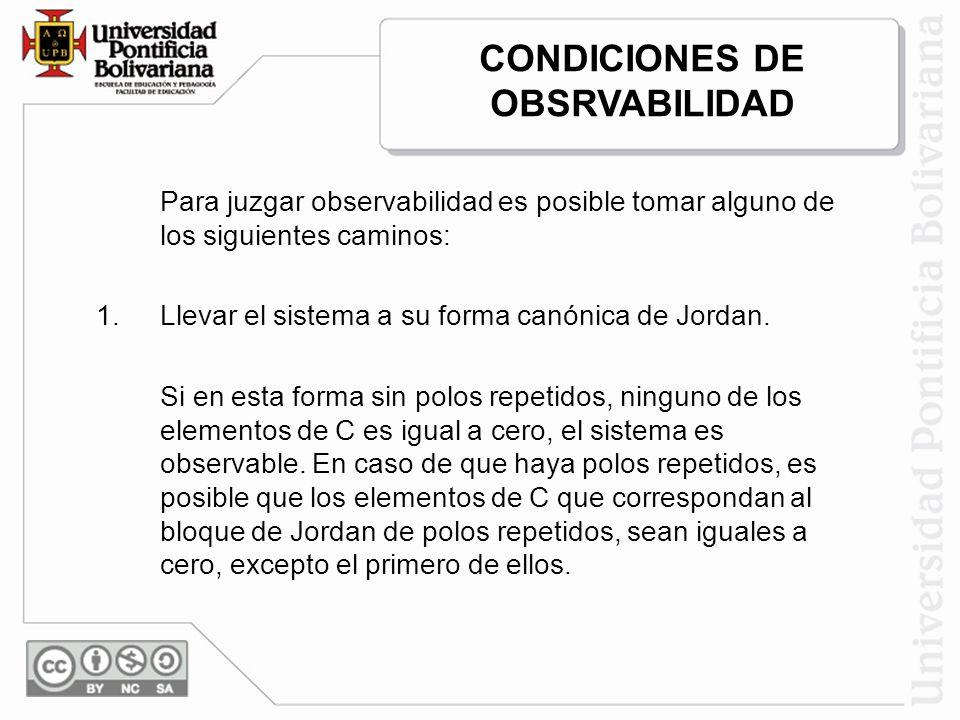 CONDICIONES DE OBSRVABILIDAD