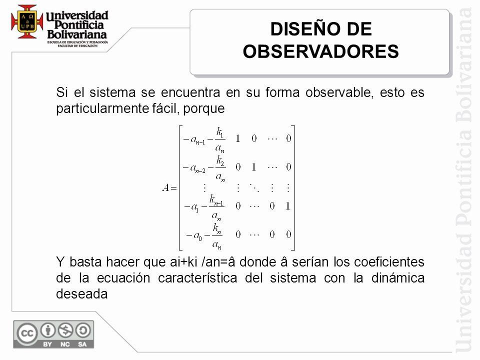 DISEÑO DE OBSERVADORES
