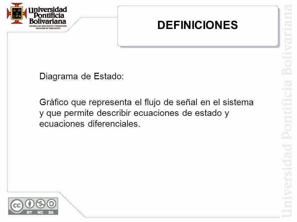 DEFINICIONES Diagrama de Estado: