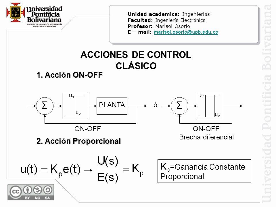 ACCIONES DE CONTROL CLÁSICO