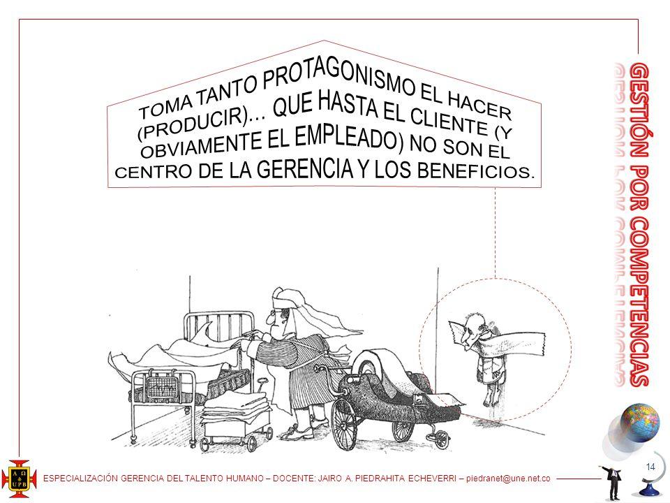 TOMA TANTO PROTAGONISMO EL HACER (PRODUCIR)… QUE HASTA EL CLIENTE (Y OBVIAMENTE EL EMPLEADO) NO SON EL CENTRO DE LA GERENCIA Y LOS BENEFICIOS.