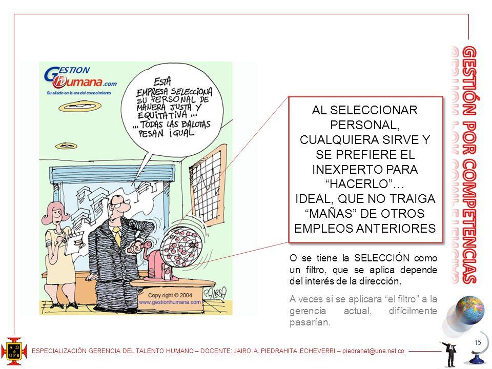 IDEAL, QUE NO TRAIGA MAÑAS DE OTROS EMPLEOS ANTERIORES