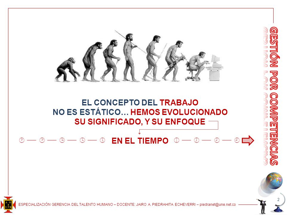 EL CONCEPTO DEL TRABAJO NO ES ESTÁTICO… HEMOS EVOLUCIONADO