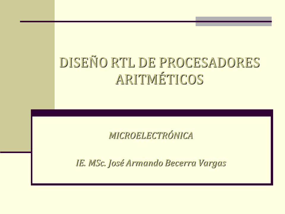 MICROELECTRÓNICA IE. MSc. José Armando Becerra Vargas