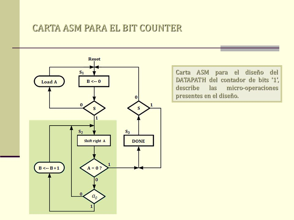 CARTA ASM PARA EL BIT COUNTER