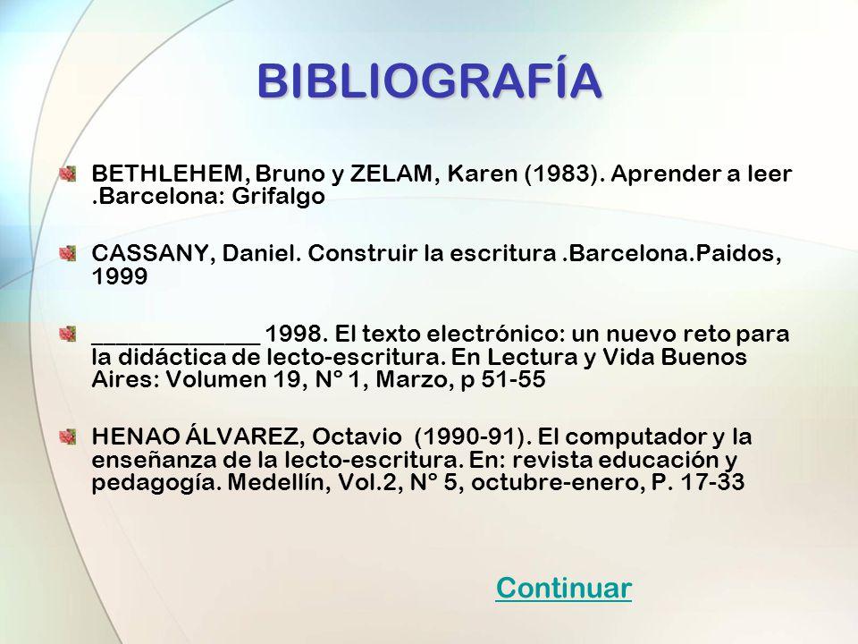 BIBLIOGRAFÍA Continuar