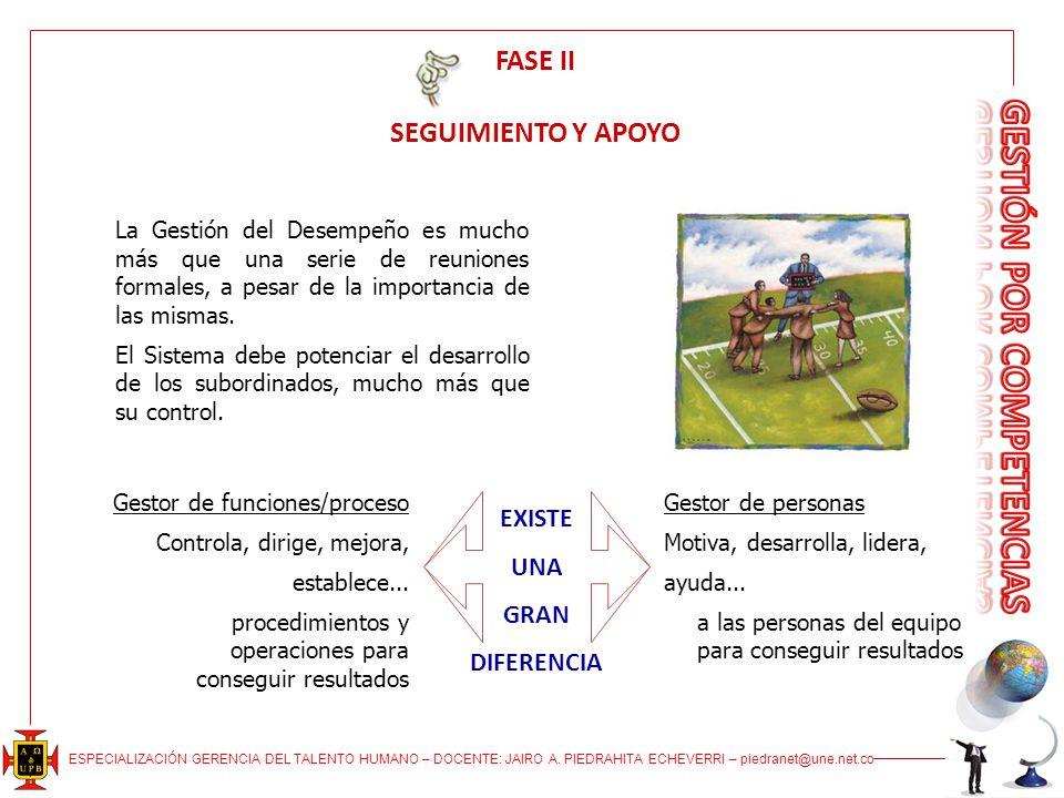 FASE II SEGUIMIENTO Y APOYO
