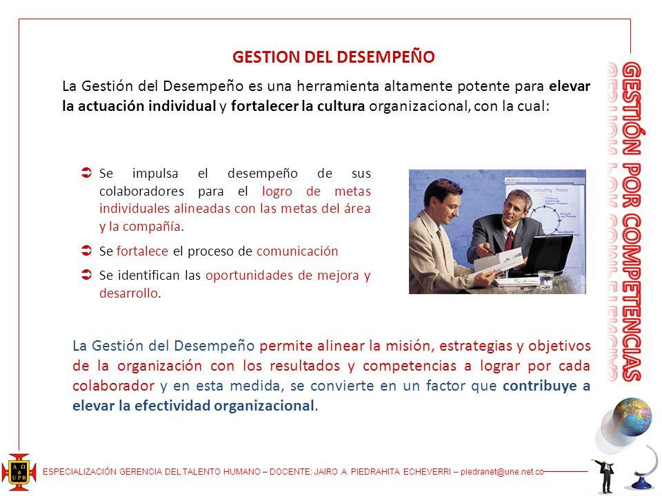 GESTION DEL DESEMPEÑO