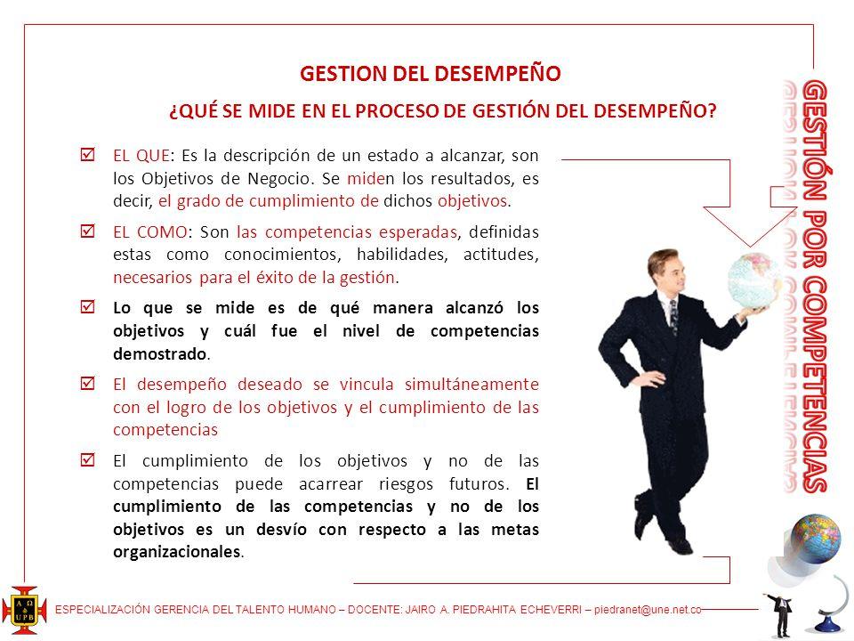 ¿QUÉ SE MIDE EN EL PROCESO DE GESTIÓN DEL DESEMPEÑO