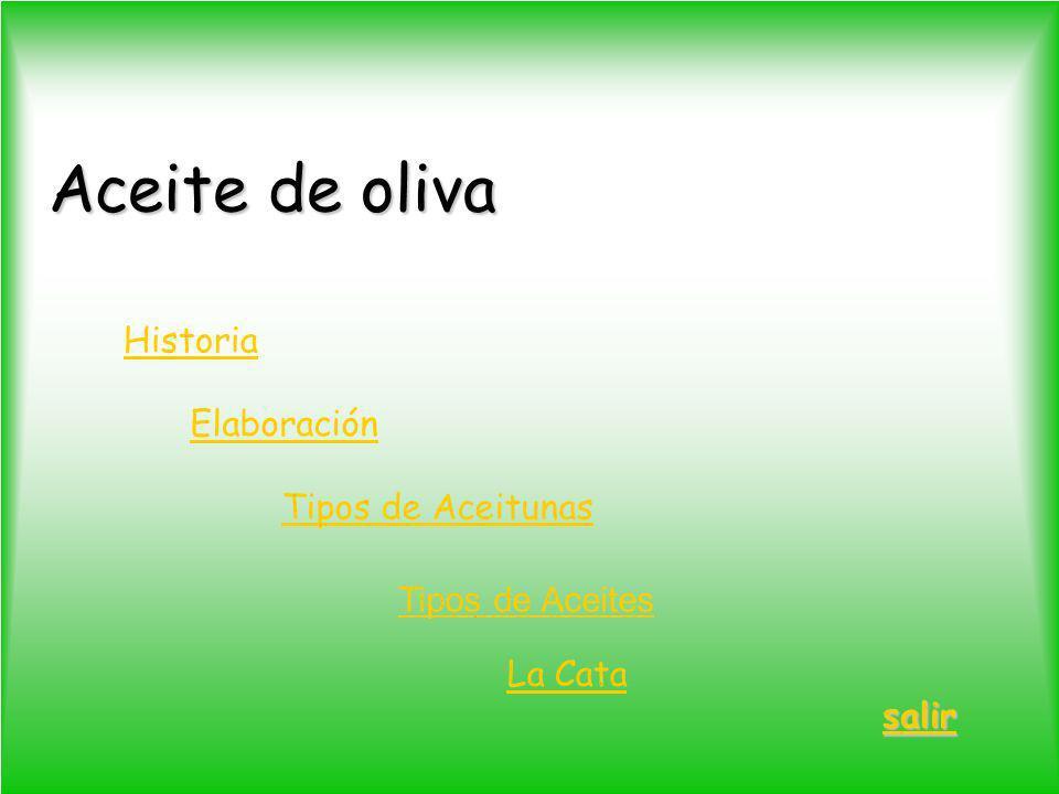 Aceite de oliva Historia Elaboración Tipos de Aceitunas