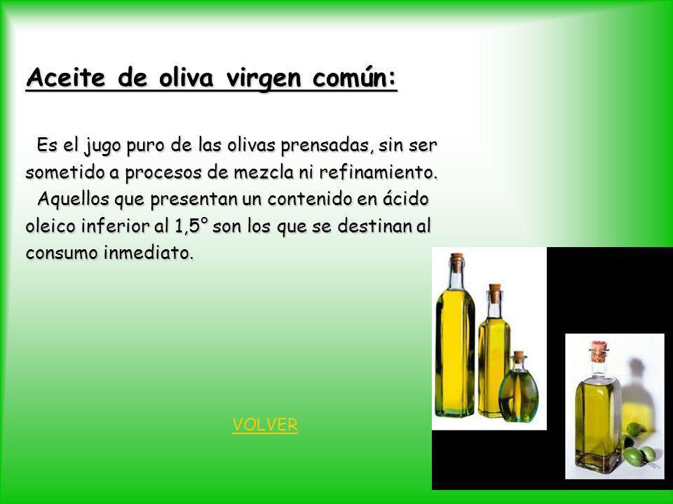 Aceite de oliva virgen común: