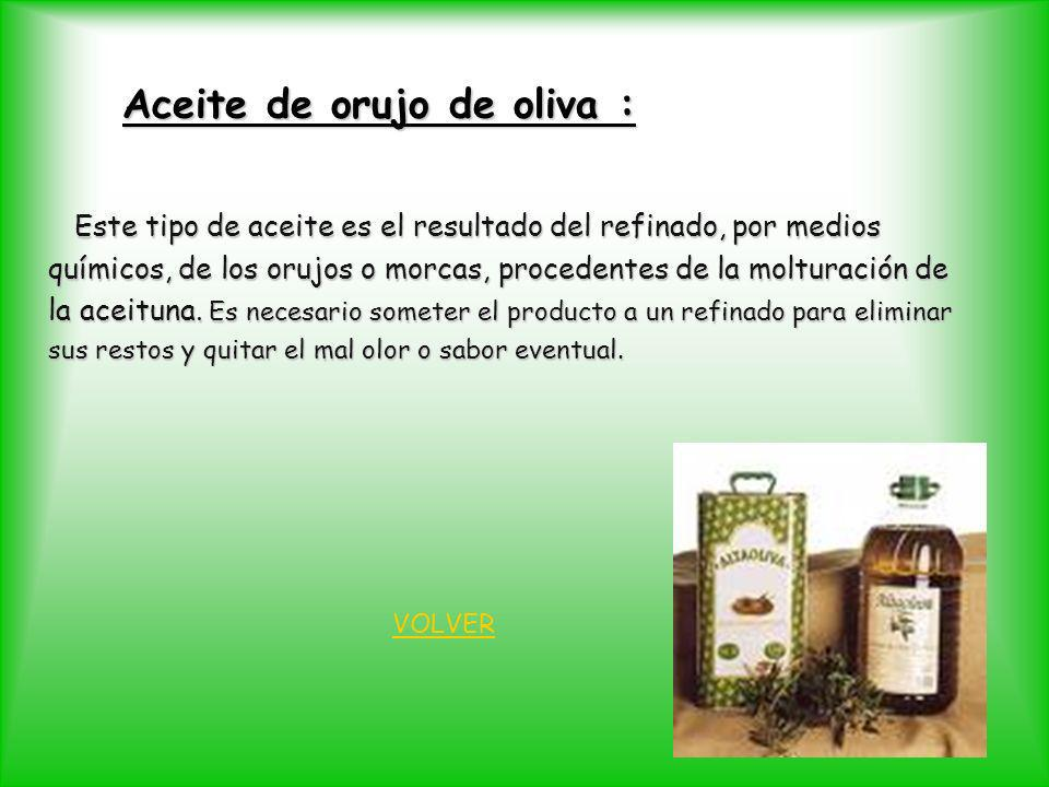 Aceite de orujo de oliva :