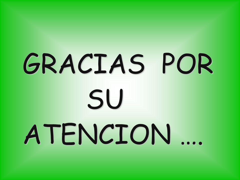GRACIAS POR SU ATENCION ….