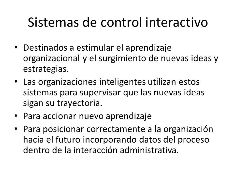 Sistemas de control interactivo