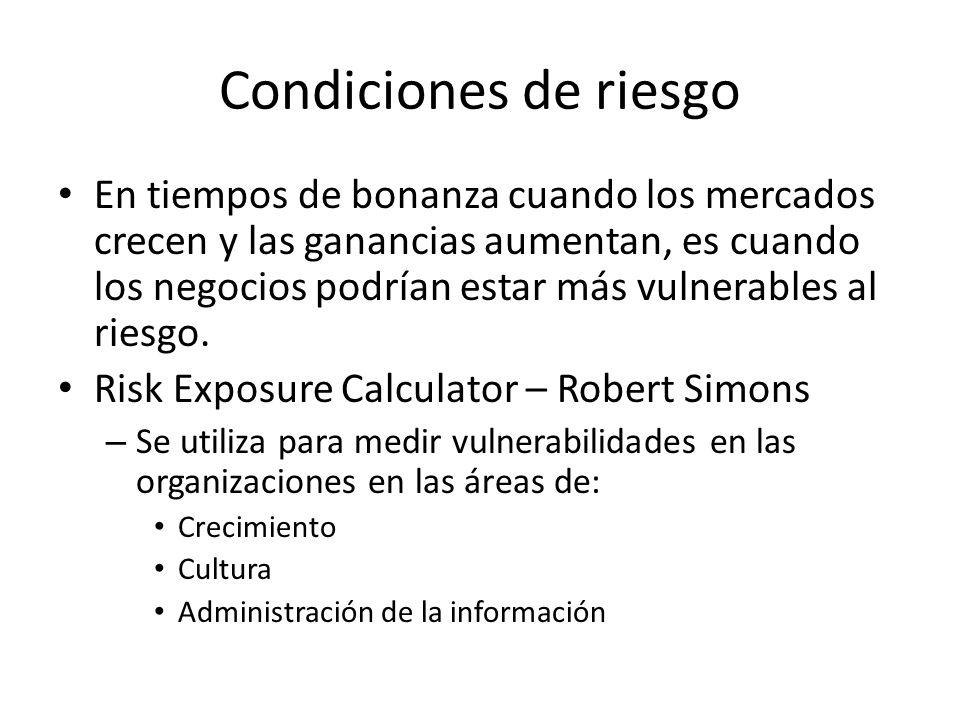 Condiciones de riesgo