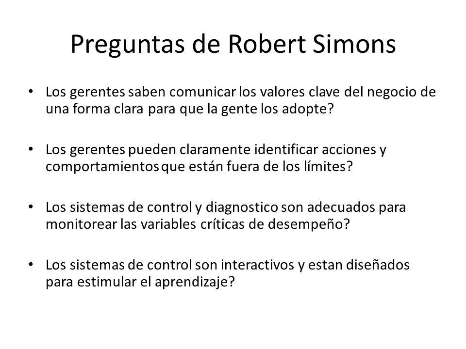 Preguntas de Robert Simons
