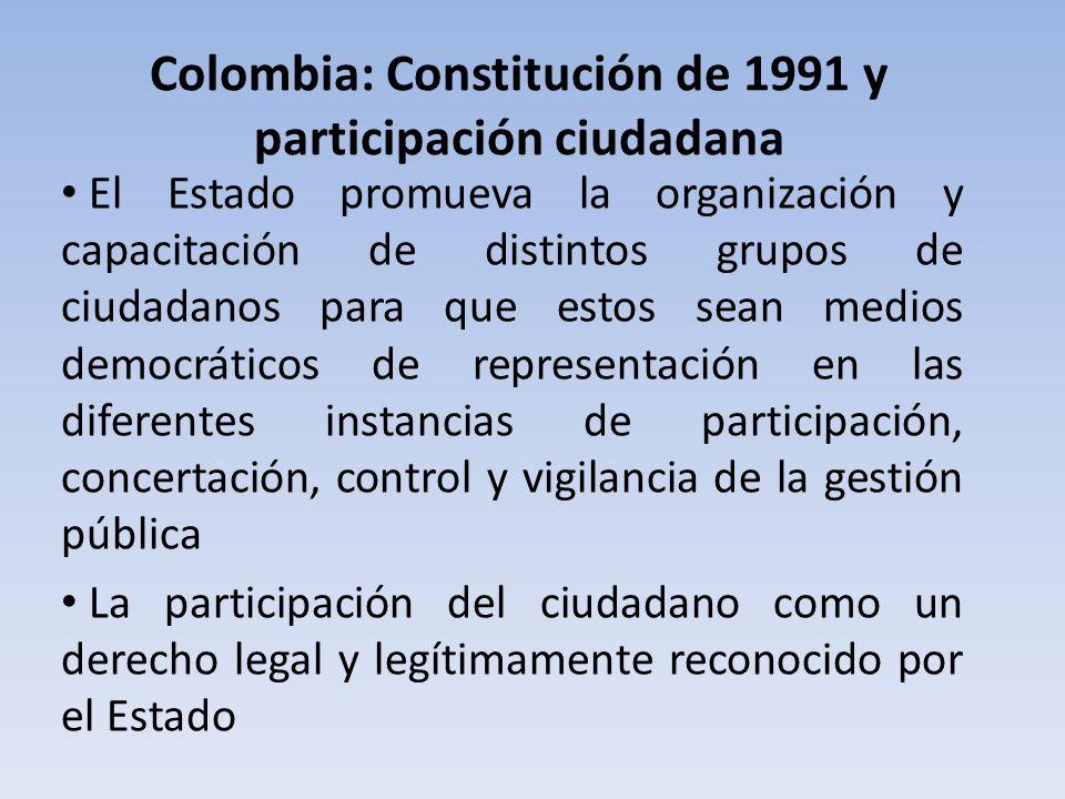 Colombia: Constitución de 1991 y participación ciudadana
