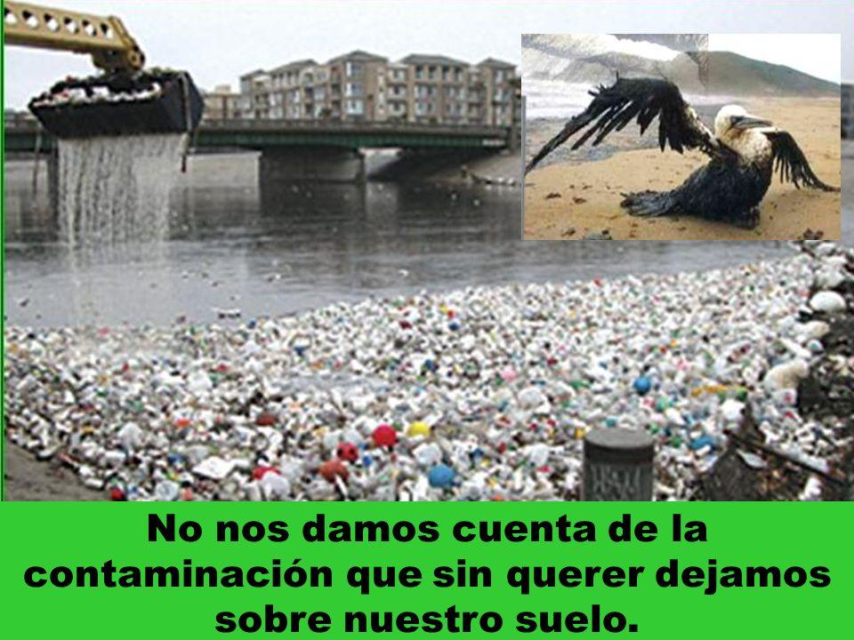 No nos damos cuenta de la contaminación que sin querer dejamos sobre nuestro suelo.