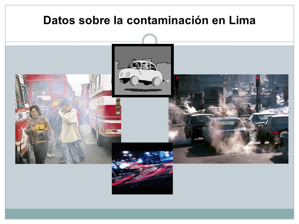 Datos sobre la contaminación en Lima