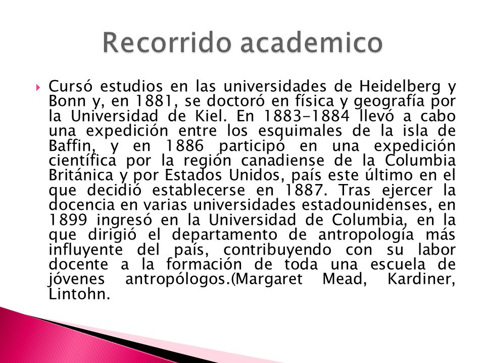Recorrido academico