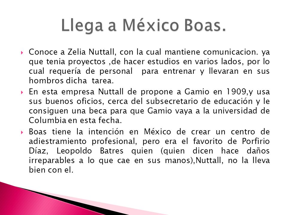 Llega a México Boas.