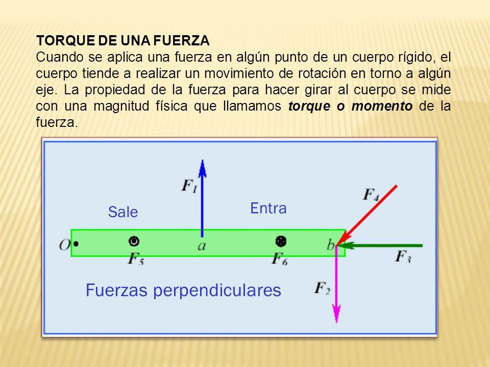 Fuerzas perpendiculares