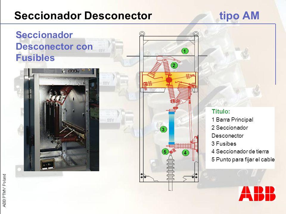 Seccionador Desconector tipo AM
