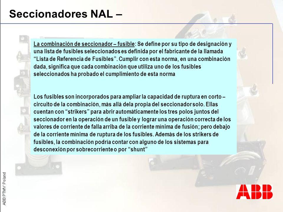 Seccionadores NAL –