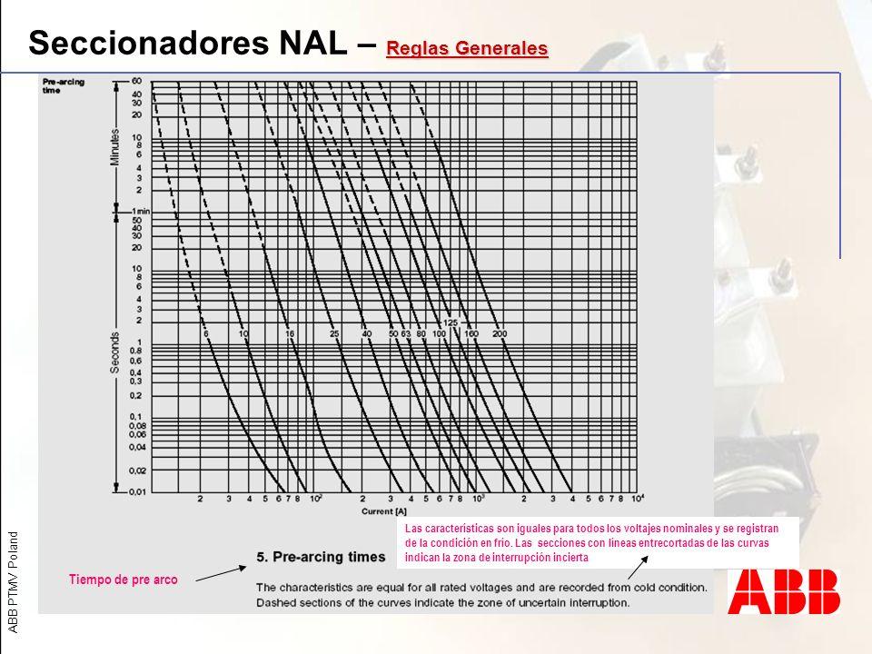 Seccionadores NAL – Reglas Generales