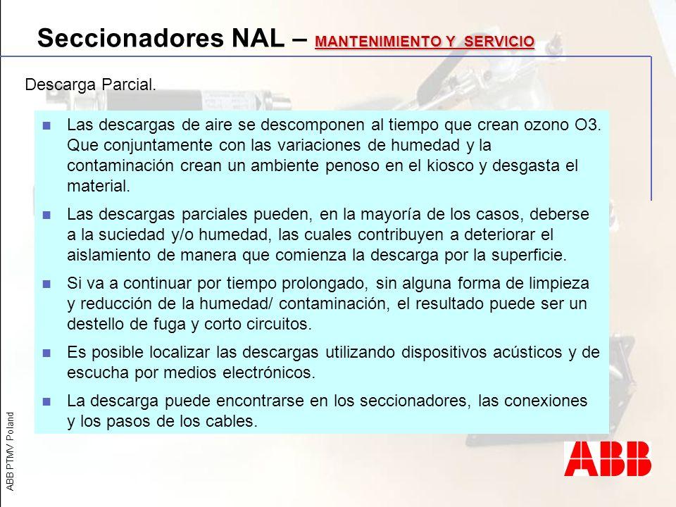Seccionadores NAL – MANTENIMIENTO Y SERVICIO