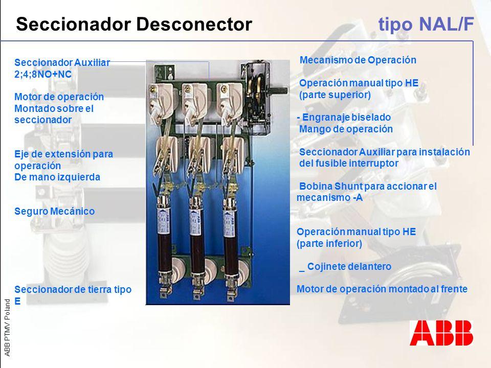 Seccionador Desconector tipo NAL/F