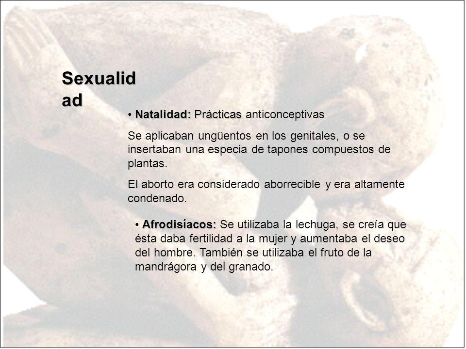 Sexualidad Natalidad: Prácticas anticonceptivas