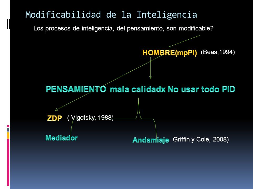 Modificabilidad de la Inteligencia