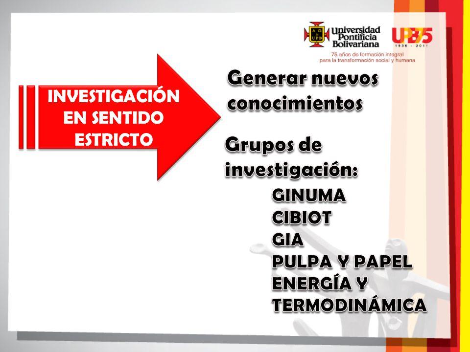 INVESTIGACIÓN EN SENTIDO ESTRICTO
