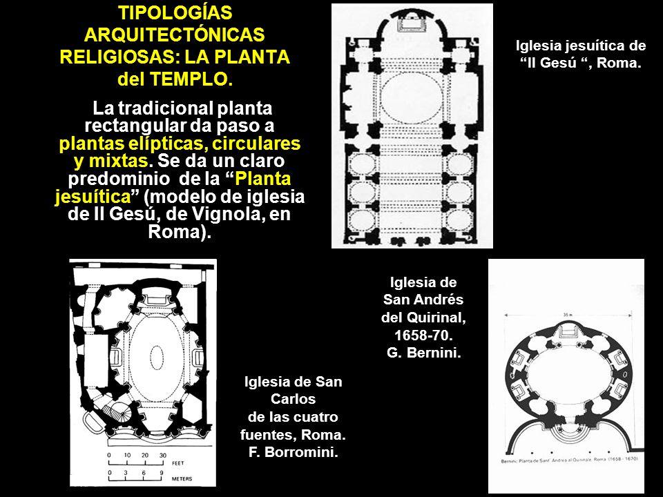 TIPOLOGÍAS ARQUITECTÓNICAS RELIGIOSAS: LA PLANTA del TEMPLO.
