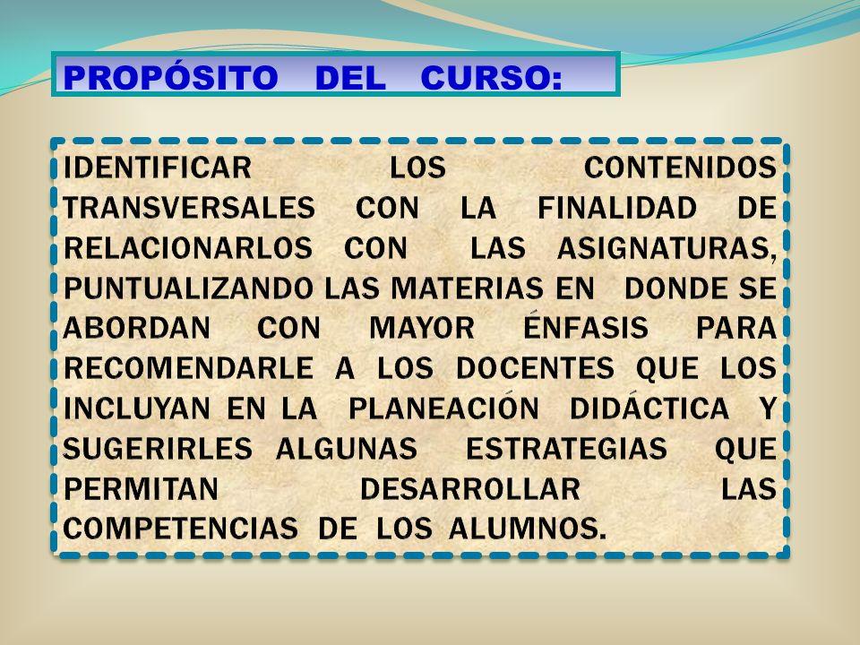 PROPÓSITO DEL CURSO: