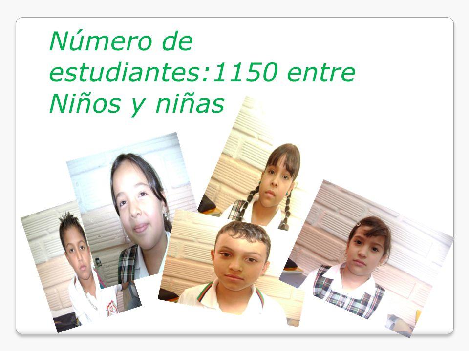Número de estudiantes:1150 entre