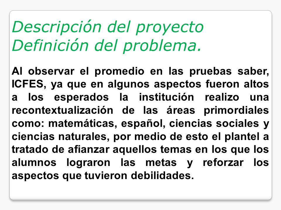 Descripción del proyecto Definición del problema.