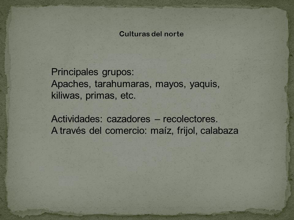 Apaches, tarahumaras, mayos, yaquis, kiliwas, primas, etc.
