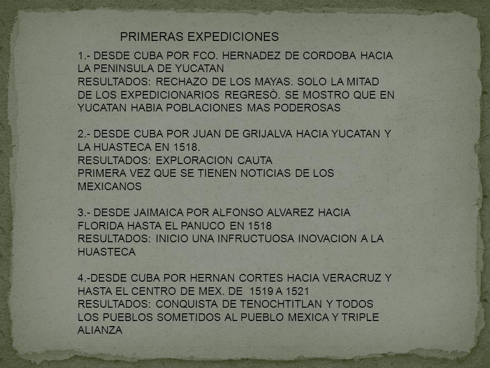 PRIMERAS EXPEDICIONES