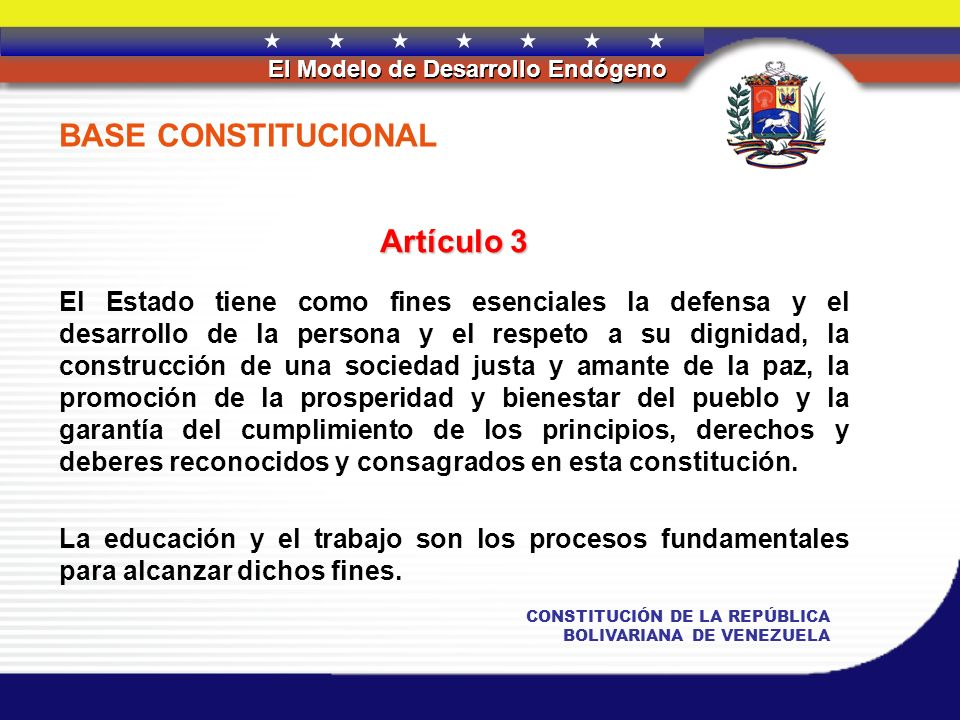BASE CONSTITUCIONAL Artículo 3