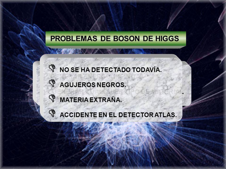 PROBLEMAS DE BOSON DE HIGGS BENEFICIOS DE BOSON DE HIGGS