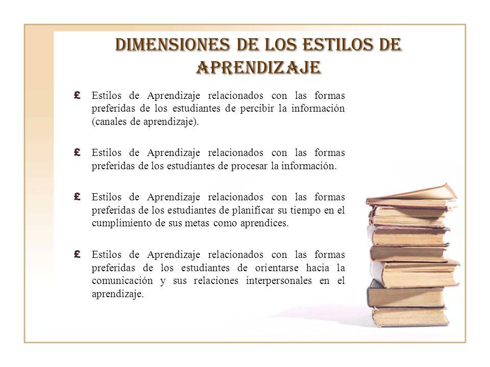 Dimensiones de los estilos de aprendizaje