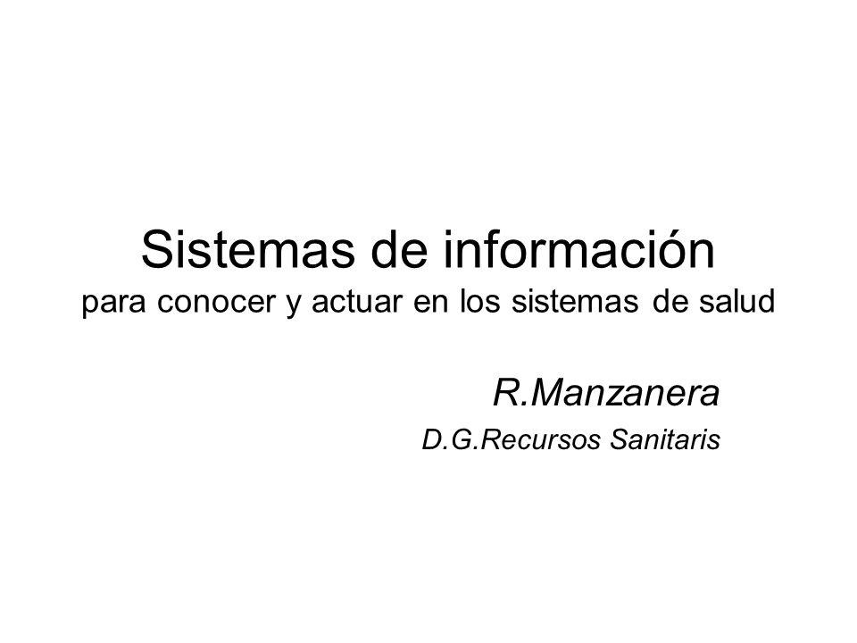 Sistemas de información para conocer y actuar en los sistemas de salud