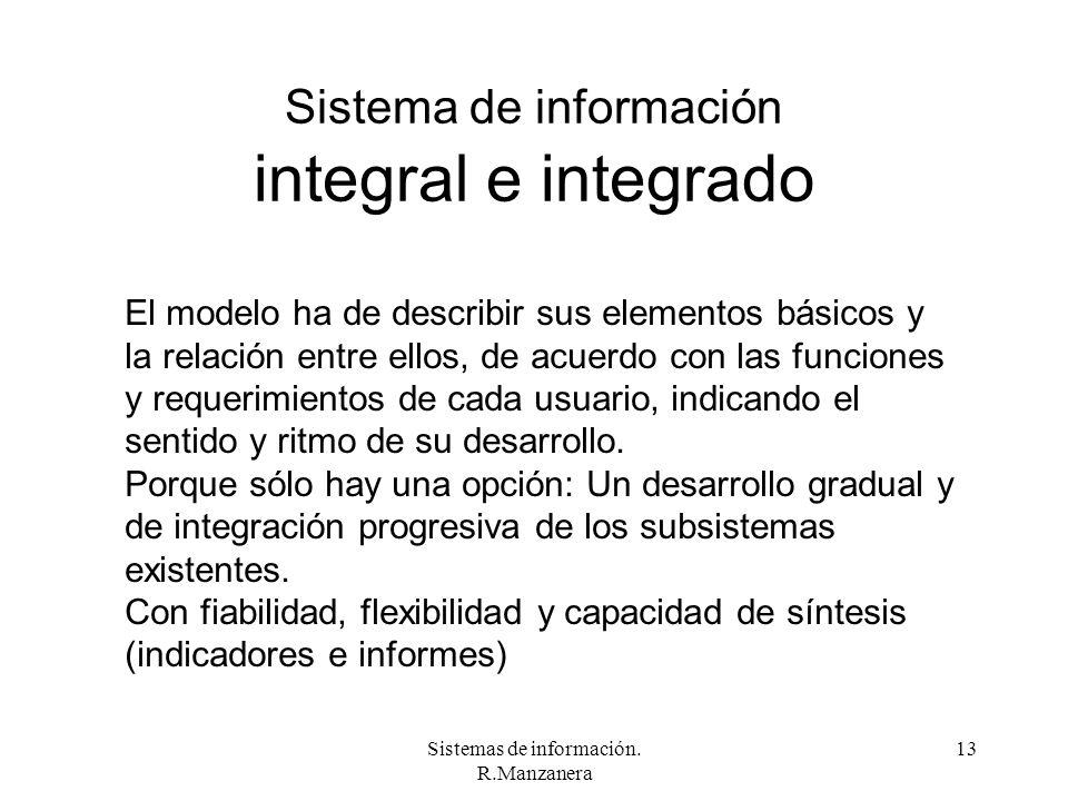 Sistema de información integral e integrado