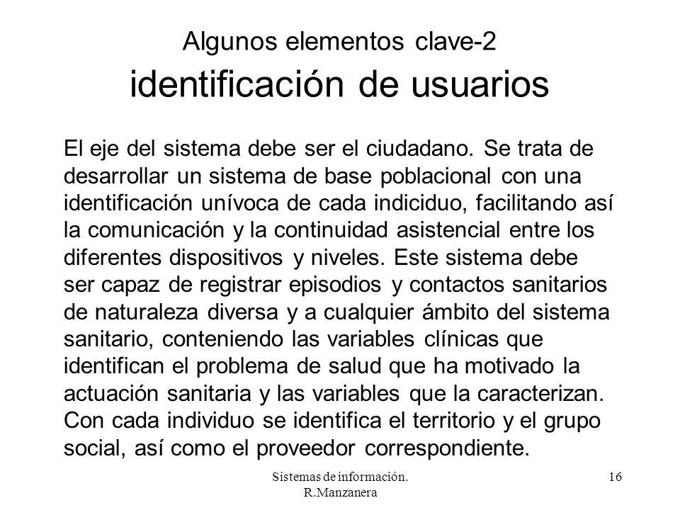 Algunos elementos clave-2 identificación de usuarios